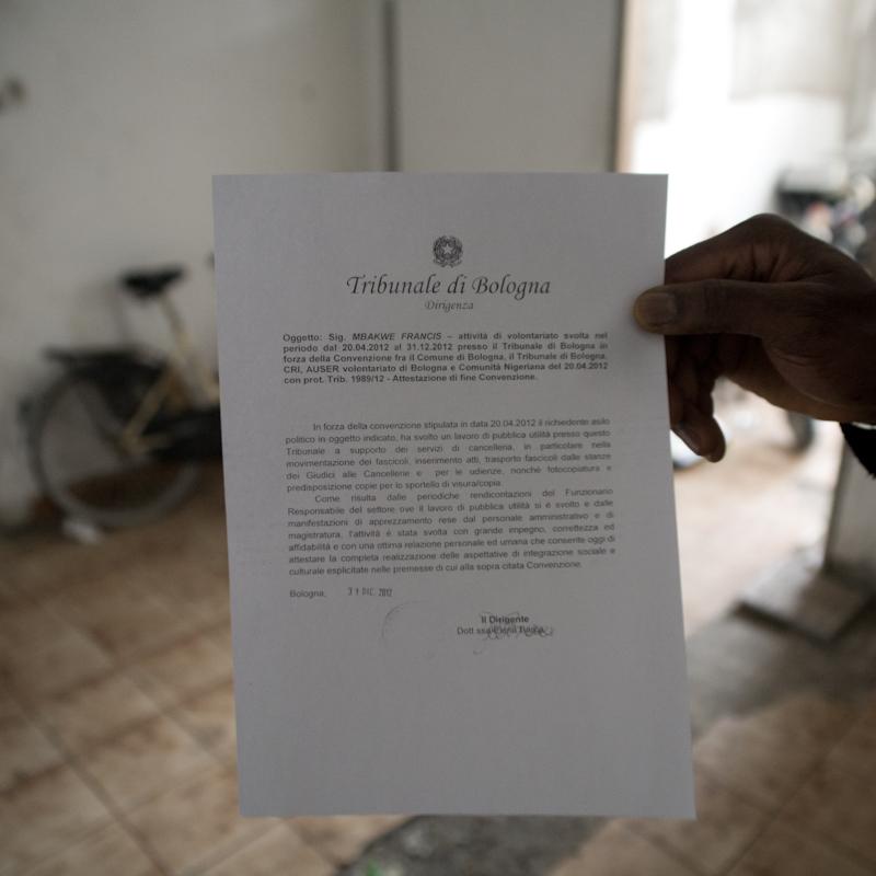 Molti rifugiati hanno svolto 8 mesi di volontariato presso il Tribunale di Bologna