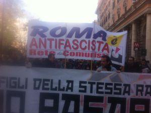 RdC Roma antifascista, corteo