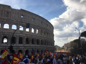 No Renzi day Colosseo