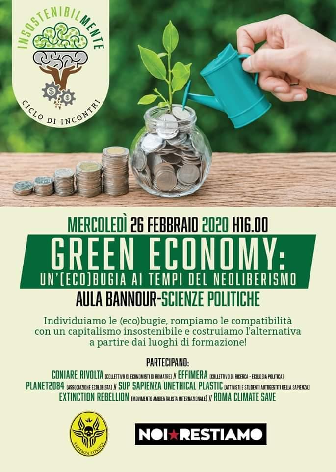 greene conomy: un'ecobugia ai tempi del neoliberismo